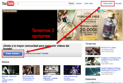 YOUTUBE (I): Crear una cuenta en youtube [tutorial]