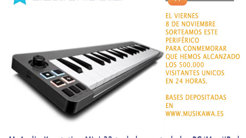 Regalamos un M-Audio Key-Controller Keystation Mini 32 (MAC/PC/iPad) por la face | Musikawa