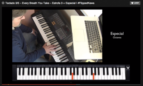 Teclado 3/5 – Every Breath You Take – Estrofa 3 + Especial | #FlippedKawa