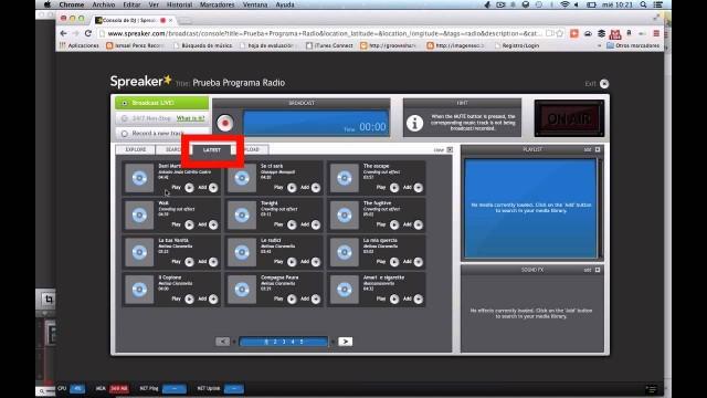 4. Añadir música en Spreaker – Taller de radio online |#FlippedKawa