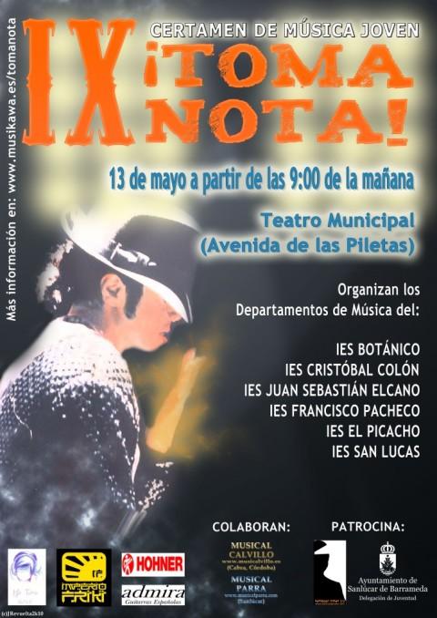 Cartel del Concurso «Toma Nota» 2010
