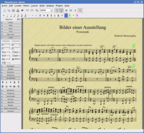 Nueva versión de MuseScore 0.9.6