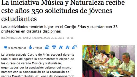 """ENTREVISTA CON…  Ramón J. Gavilán, director del curso """"Música y Naturaleza"""""""