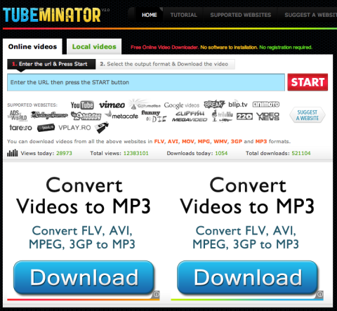 TUBEMINATOR: descarga videos de Internet