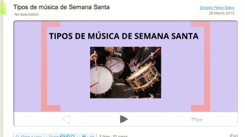 La música de Semana Santa – Tipos [Prezi], por Zoraida Pérez