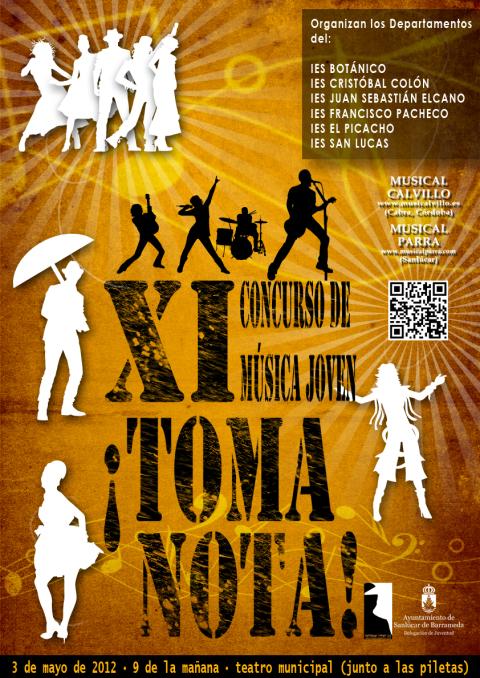 Cartel, bases y hoja de inscripción del Concurso Toma Nota 2012 | Musikawa