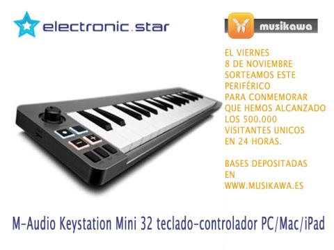Regalamos un M-Audio Key-Controller Keystation Mini 32 (MAC/PC/iPad) por la face | Musikawa