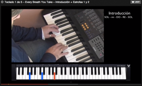 Teclado 1 de 5 – Every Breath You Take – Introducción + Estrofas 1 y 2