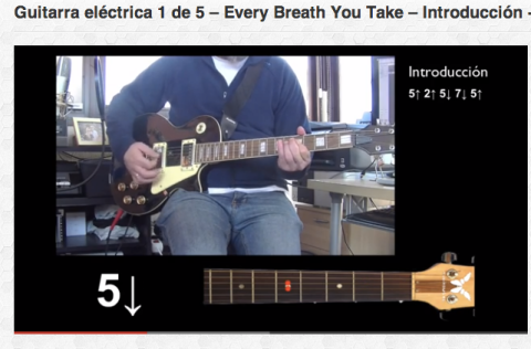 Guitarra eléctrica 1 de 5 – Every Breath You Take – Introducción + Estrofas 1 y 2
