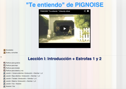 Nuevo #curso abierto de la canción «Te entiendo» de @pignoise en los #MOOC de MusikawaEDU | Musikawa