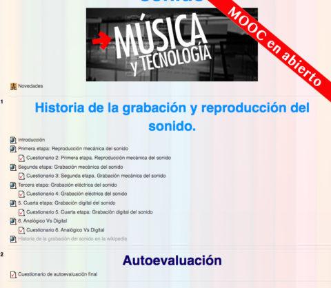 Curso sobre la Historia de la reproducción y grabación del sonido (Mooc) | @Musikawa #edmusical